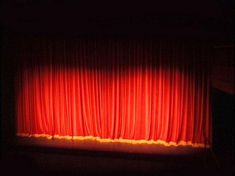 Ein roter Theatervorhang